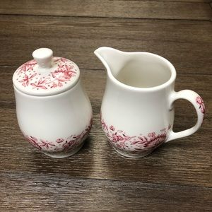 [Carefree True China] Creamer & Sugar